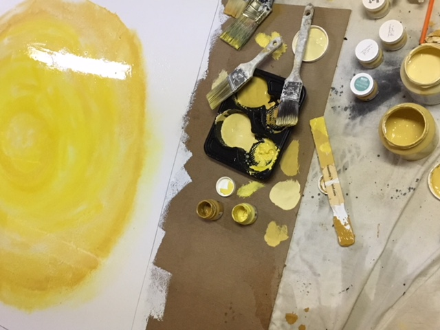 Making DIY artwork with Fusion Mineral Paint
