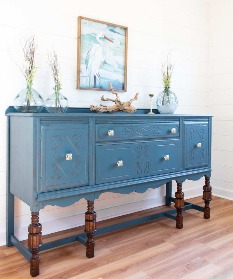 How To Transform Antique Furniture With, How To Paint Furniture Antique Blue