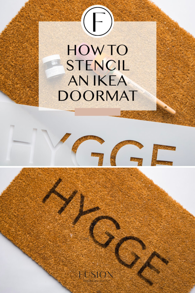 images of stenciled ikea door mat