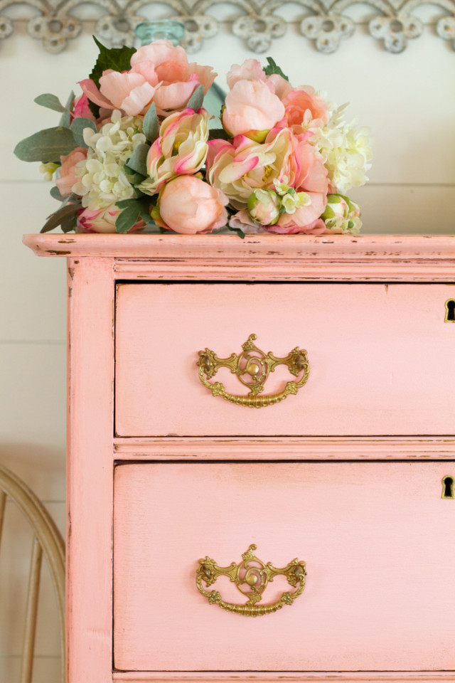 Dresser painted with Fusion Mineral Paint's English Rose