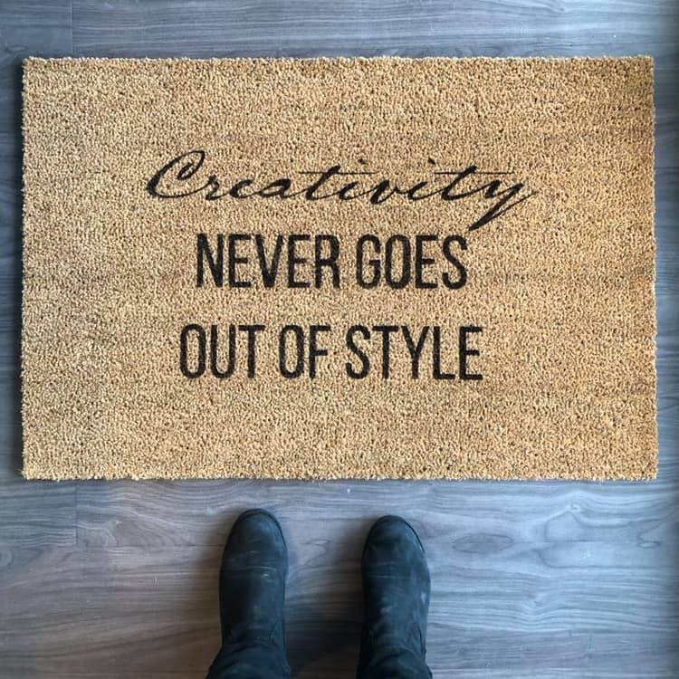 How To Stencil An Ikea Doormat And A Diy Doormat Round Up