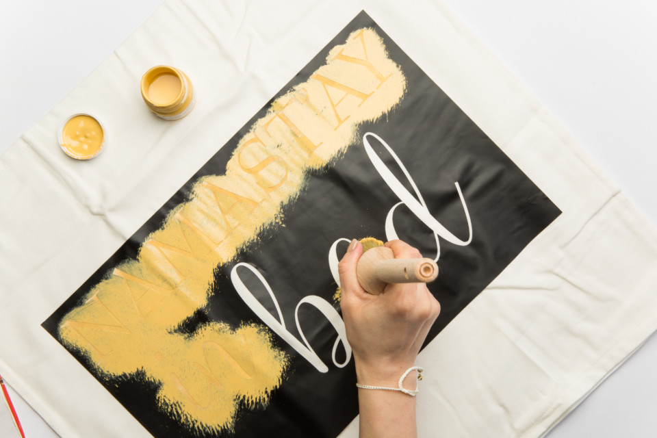 How to Stencil a Pillowcase - 'Namaste in Bed' stencil!
