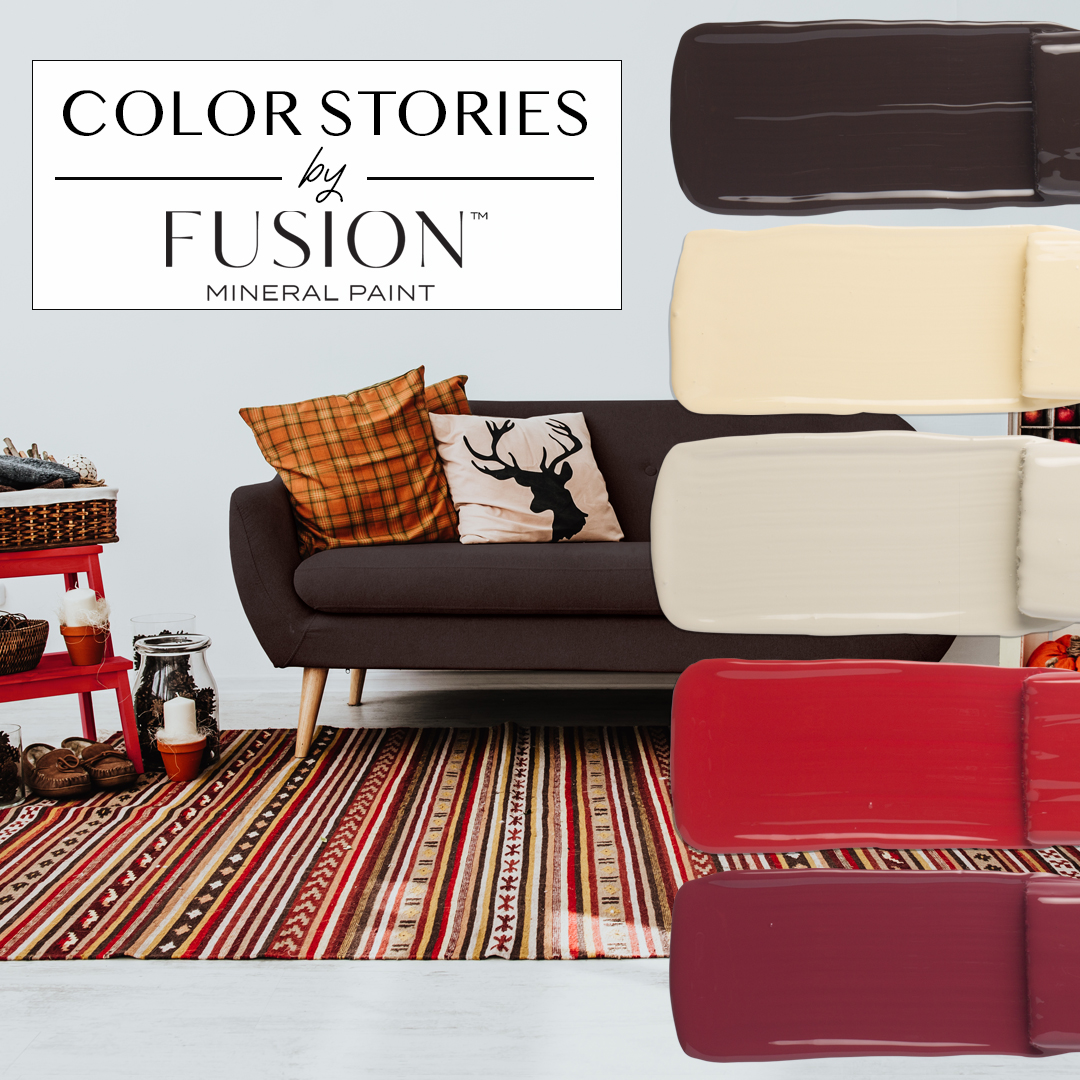 October S Color Story From Fusion Mineral Paint Cozy Up