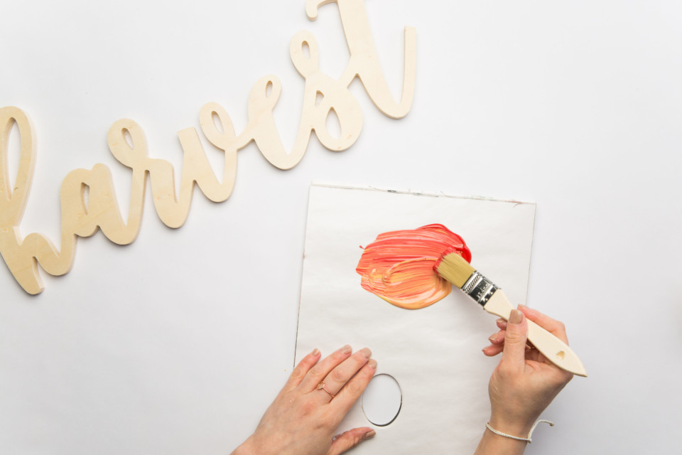 Using Fusion's fall colour palette, create a collection of painted Fall Sign Decor. The colour possibilities are endless with Fusion's line of mineral paints.
