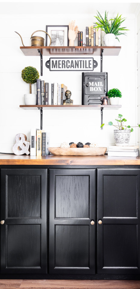 DIY built in cabinets Coal Black - Fusion Mineral Paint