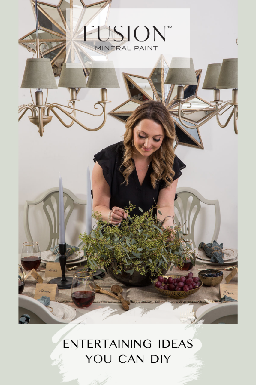 Any top notch hostess has a table and chairs that elevate her space, and a tablescape to match. We've created a series of Holiday Entertaining Ideas for you try out before the madness begins.