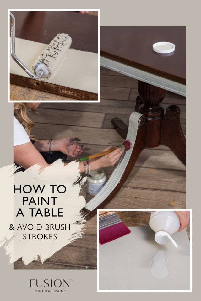 how to paint a table avoid brush strokes