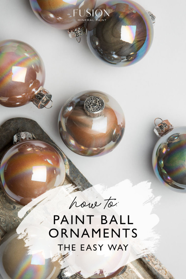 how to paint ball ornaments the easy way