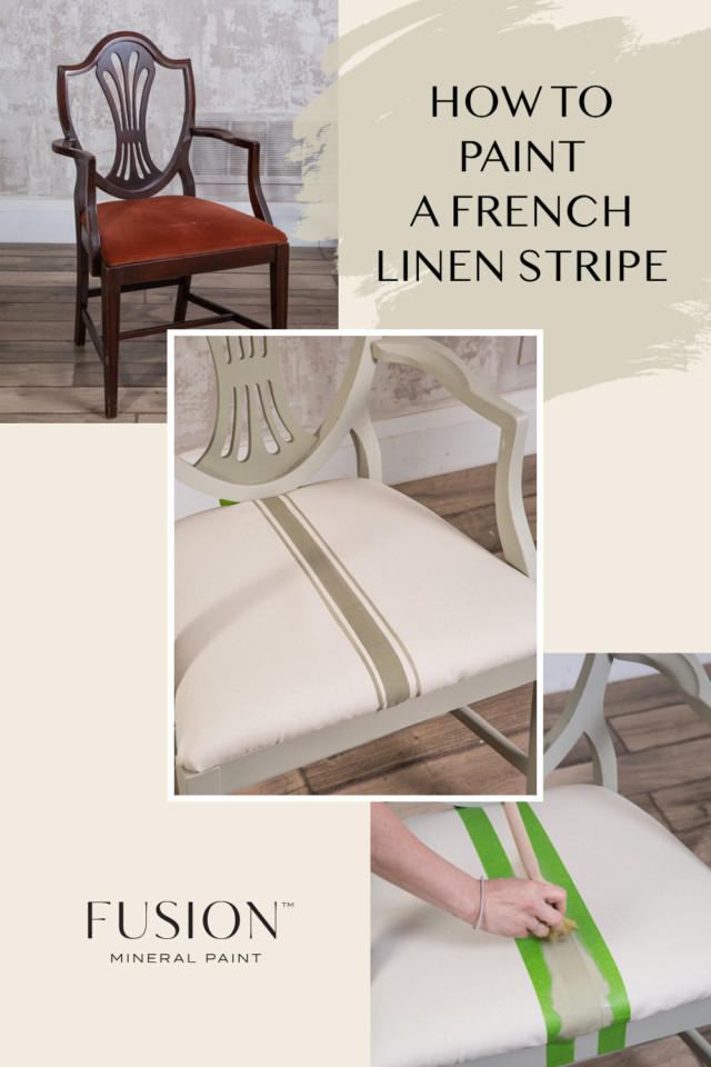 how to paint a french linen stripe chair