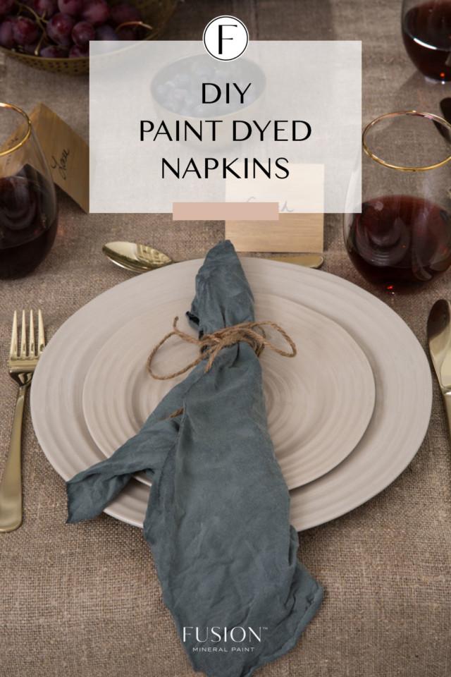 paint dyed napkins