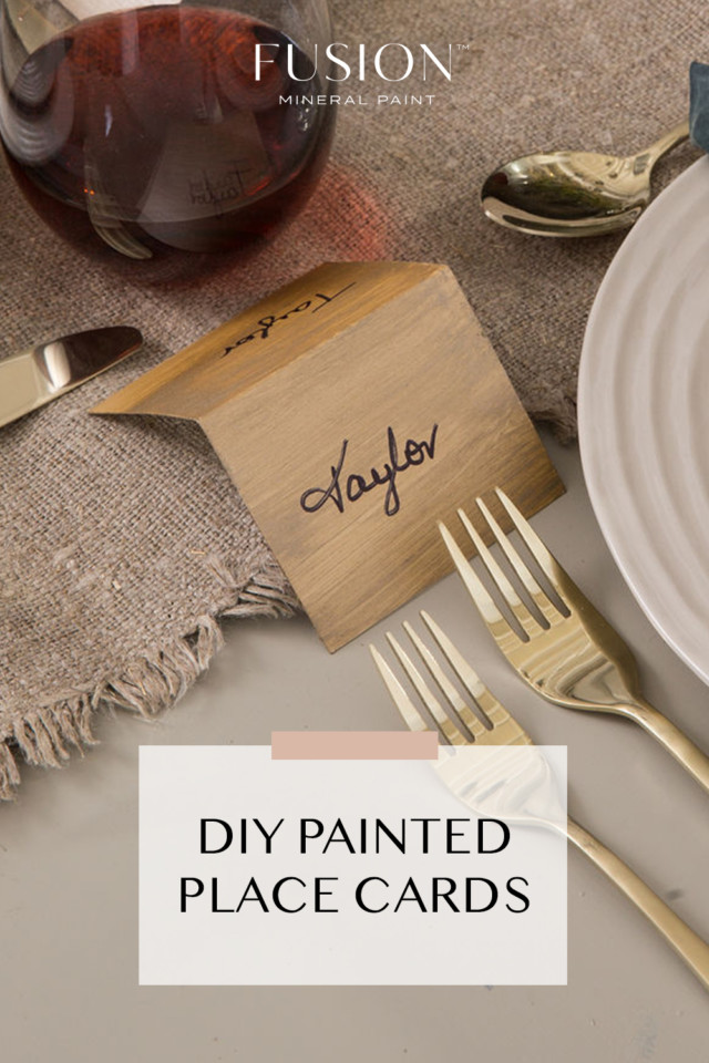 holiday entertaining ideas painted place cards