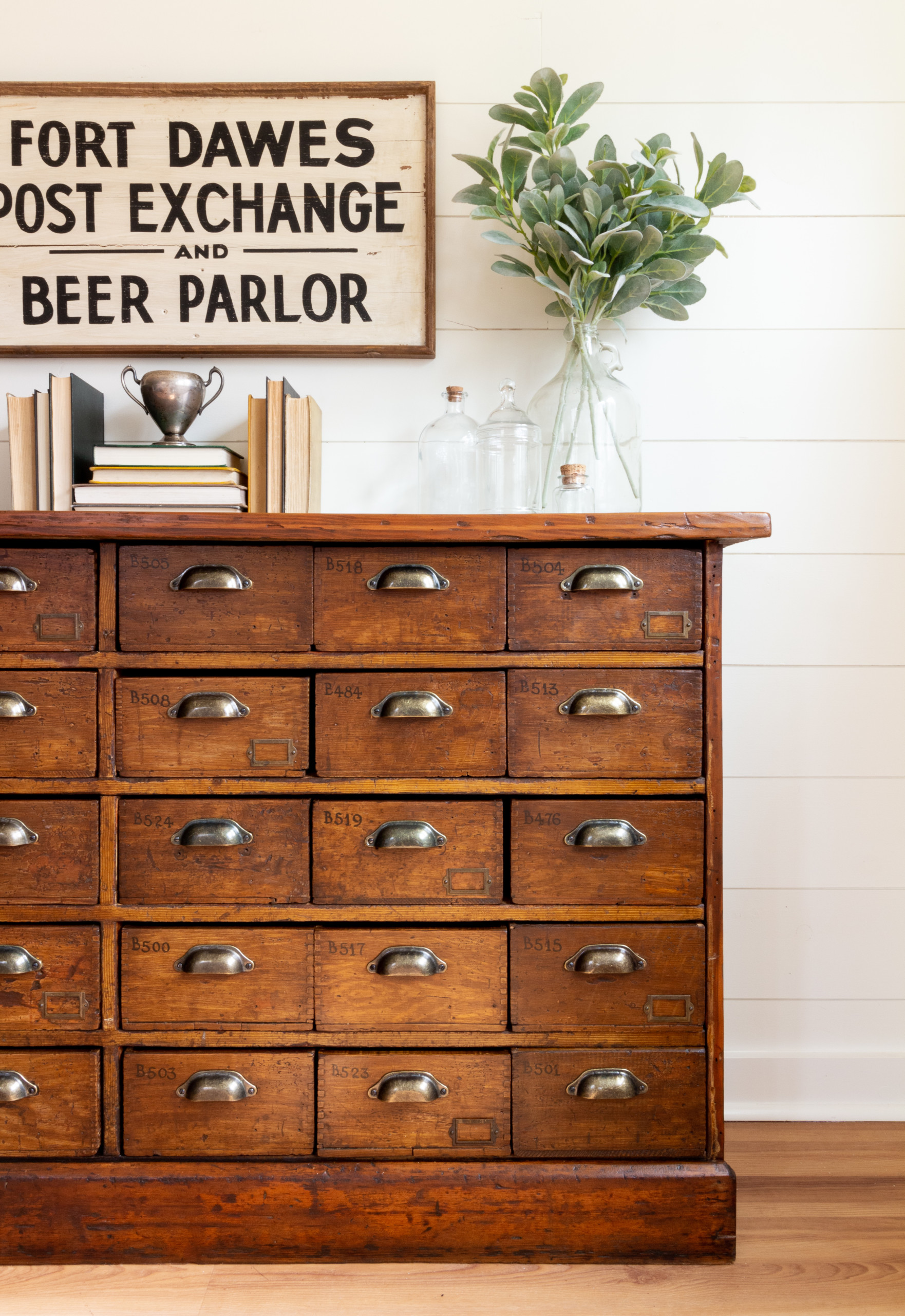 Stain and Finishing Oil - restore an Apothecary cabinet
