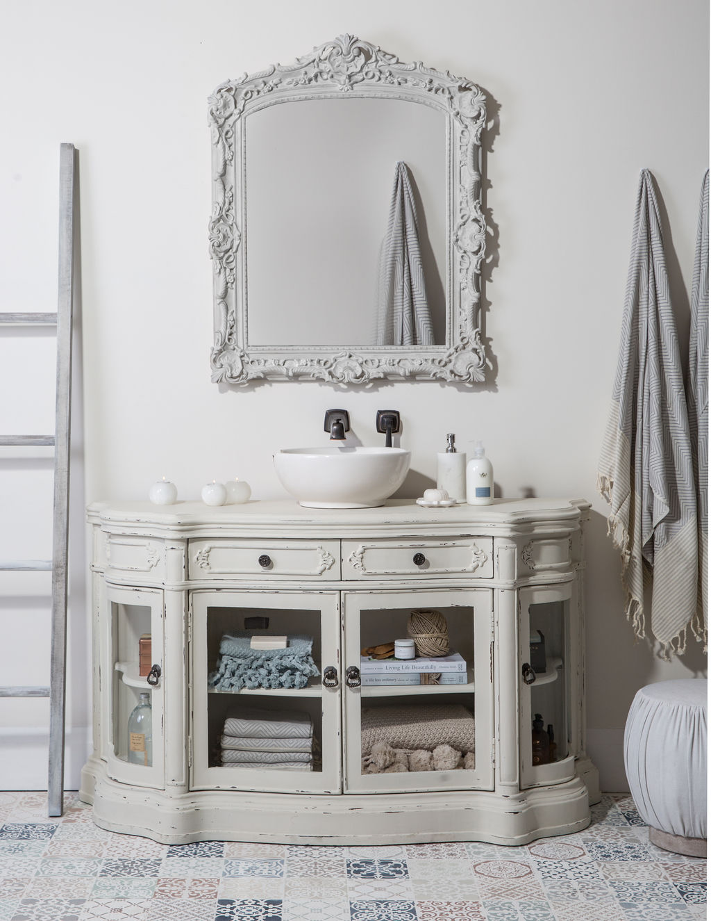 Finished frontal shot of Bathroom vanity - Fusion Mineral Paint
