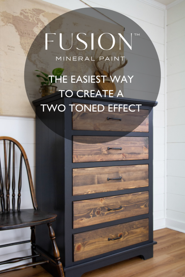 How to create a two toned effect using Fusion Mineral Pint and Stain and Finishing Oil