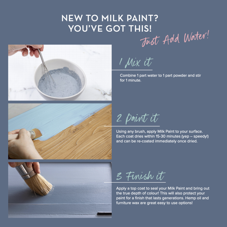 How to mix milk paint by Fusion - Milk Paint by Fusion - Fusion Mineral Paint