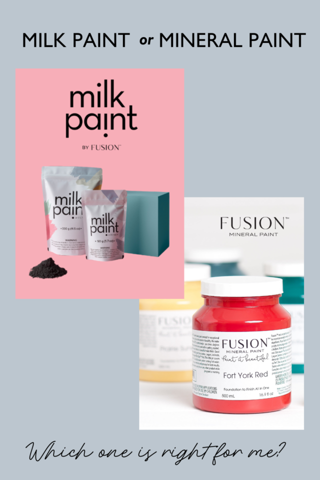Pinterest pin Milk Paint v Mineral Paint - Fusion Mineral Paint