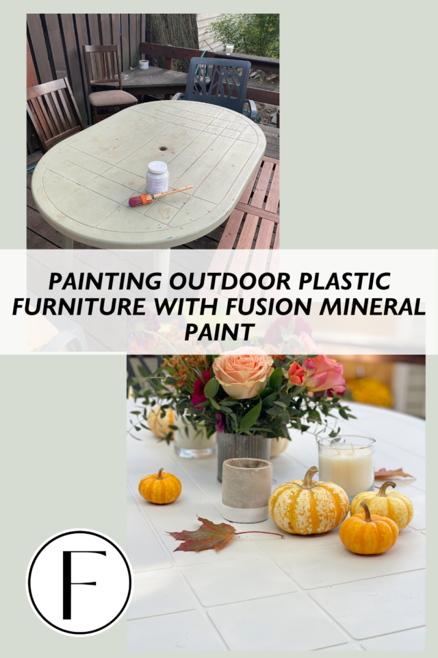 Plastic table makeover in under $50 - Fusion Mineral Paint