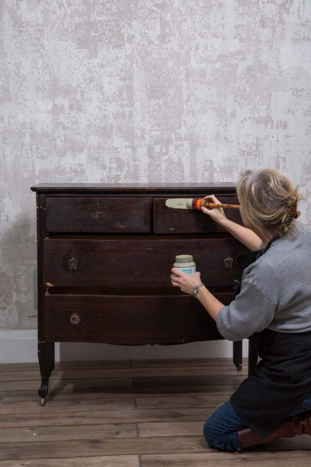 base coating the dresser
