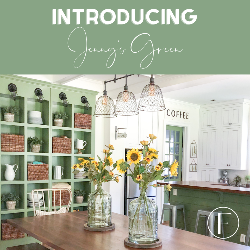 kitchen with painted cabinets in Jenny's Green