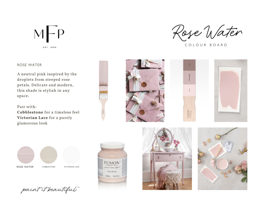Rose Water Colour Mood Board