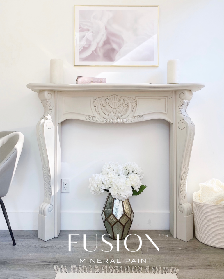 Painted fire surround fireplace